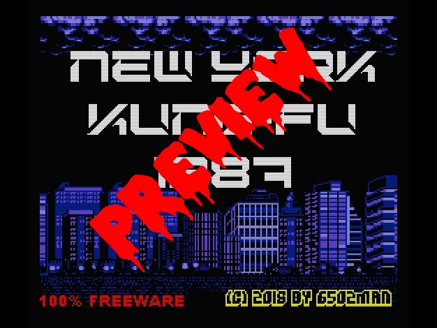 [ MSX 2 ]  NEW YORK KUNG-FU 1987 NYKF87_Title_Preview